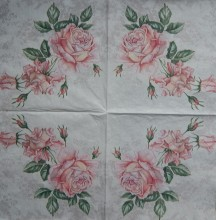 Ubrousky 33 x 33 cm Vintage roses